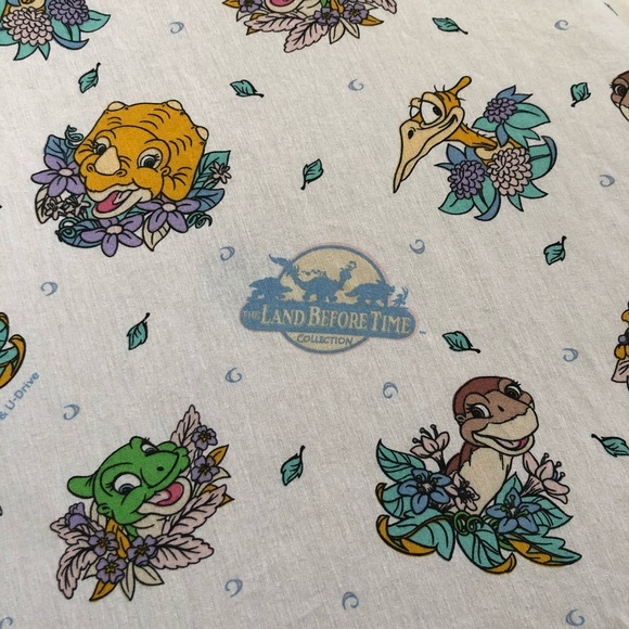 Vintage Land Before Time Twin Fitted Sheet 1997